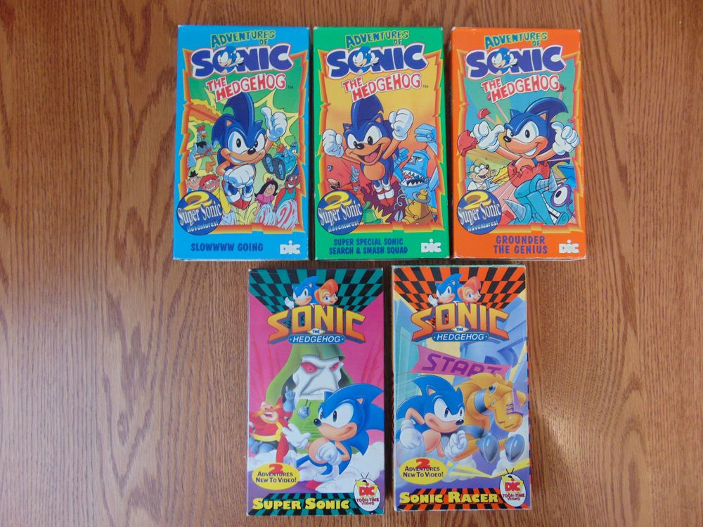 Sonic The Hedgehog Animated Series Vhs Lot 5 Tapes Very G O O D Animation Series Sonic Hedgehog