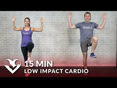 15 minute low impact cardio workout for beginners  hasfit