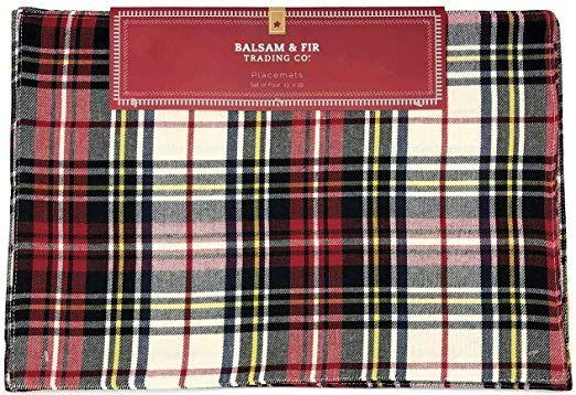 Balsam  Fir Trading Co Red Black Classic Christmas Holiday Plai