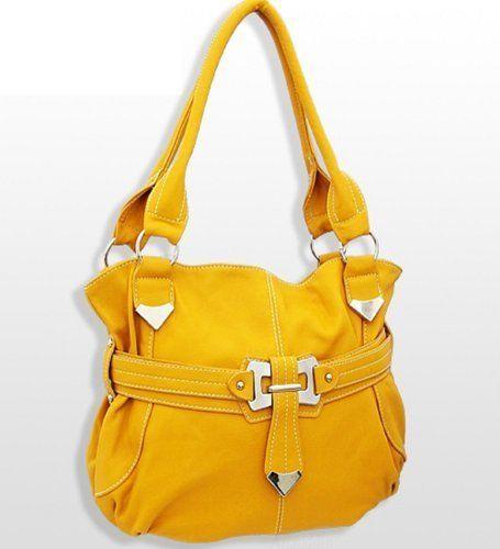 Trendy Fashion Handbag in Mustard  #HandbagsBlingandMore