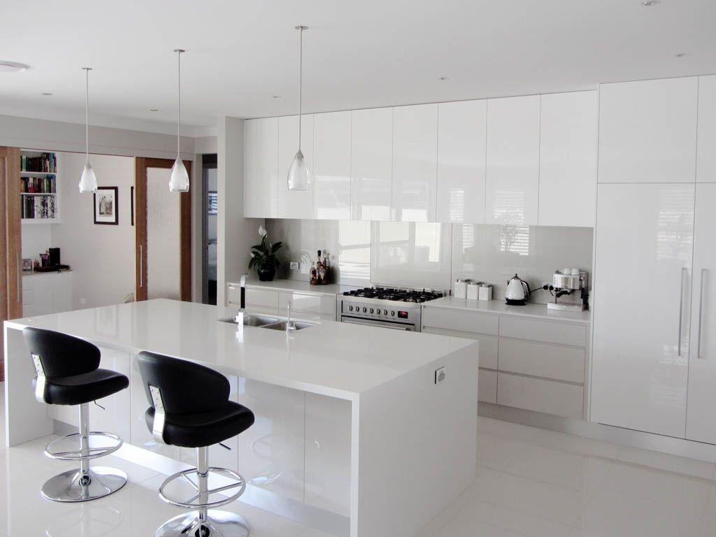 White Gloss Kitchen Designs Splashback Kuchnia Mieszkanie Pinterest Design Search And