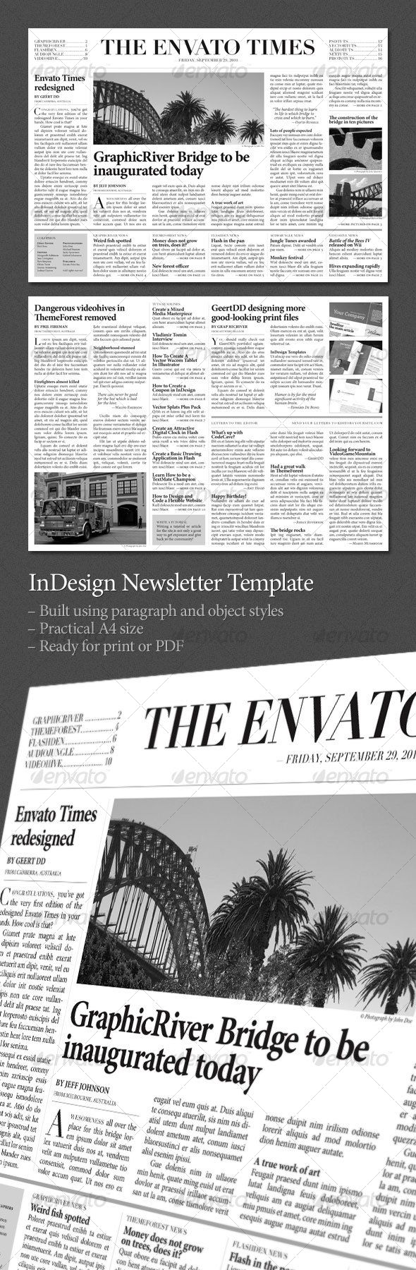 Newspaper Newsletters Template Download Here Httpgraphicriver