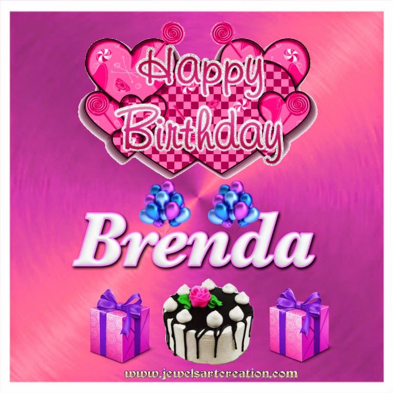 Happy Birthday Brenda Birthday Greeting Jewels Art Creation