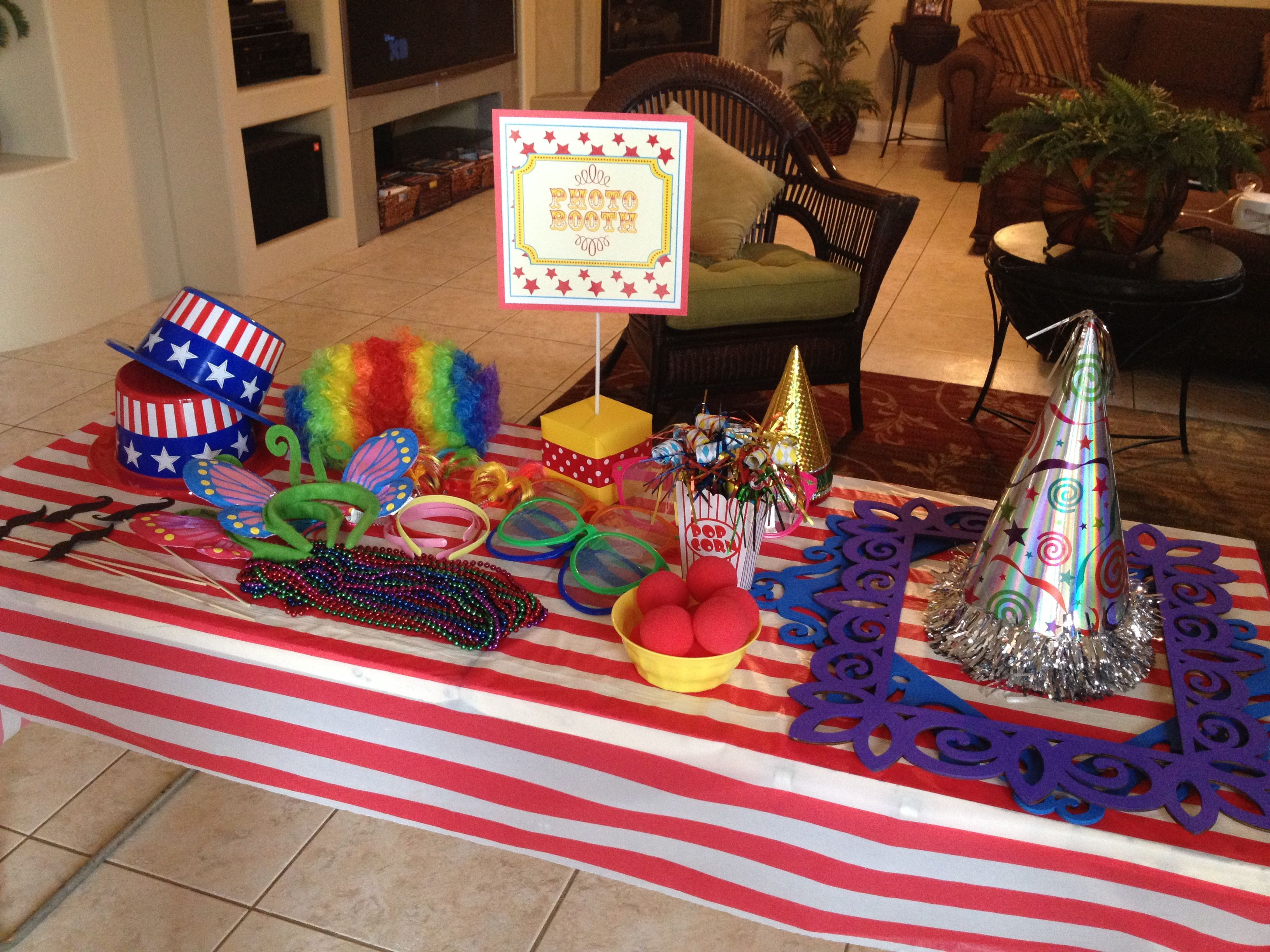 Carnival Themed Photo Boothprops From Dollar Tree And Party City