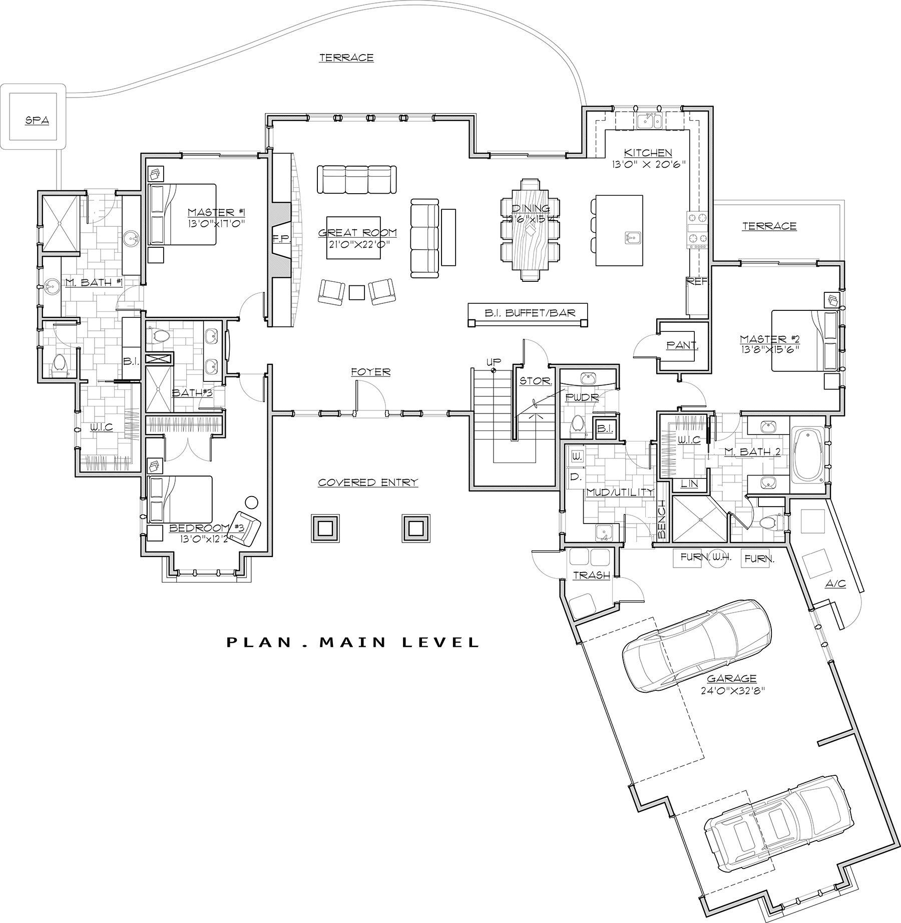 House Plan 5829 00026 Mountain Rustic Plan 4 412 Square