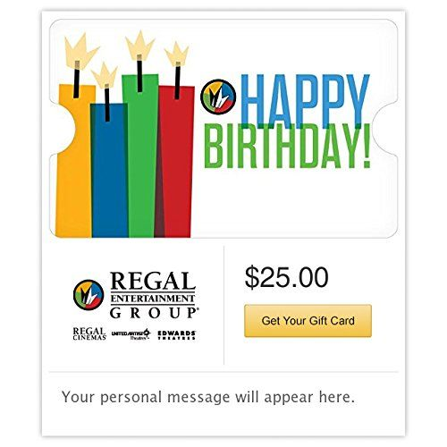 Regal Cinemas Happy Birthday Gift Cards Email Delivery Check Out This Great ProductNoteIt Is Affiliate Link To Amazon