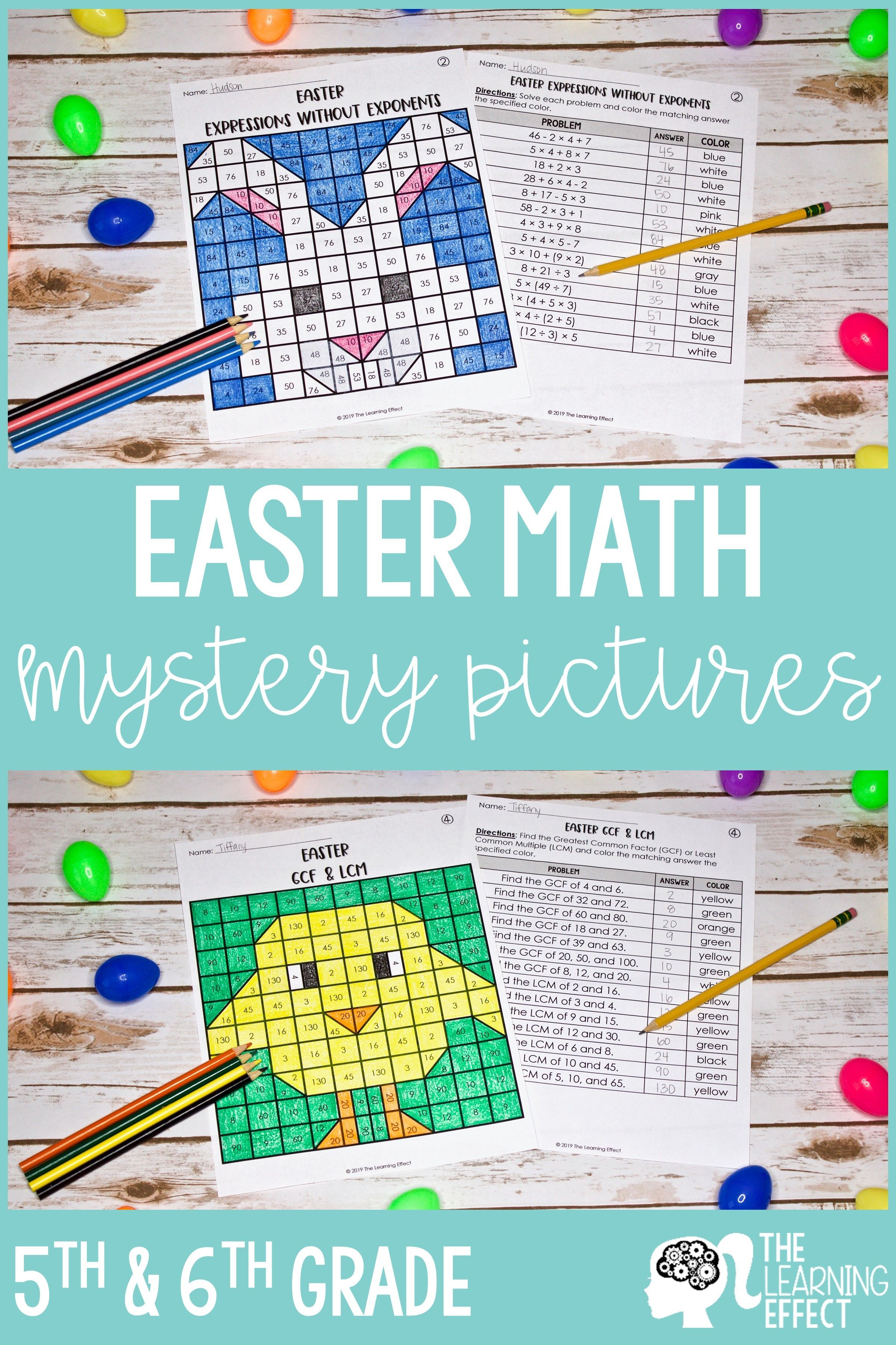 Easter Math Mystery Pictures