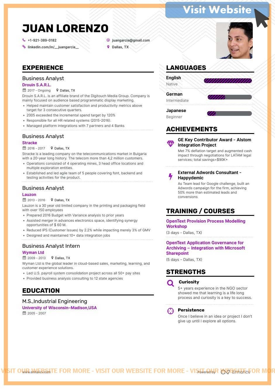 Business Data Analyst Resume Examples Free Word Pdf Data Analyst Quotes Data Analyst Business Data