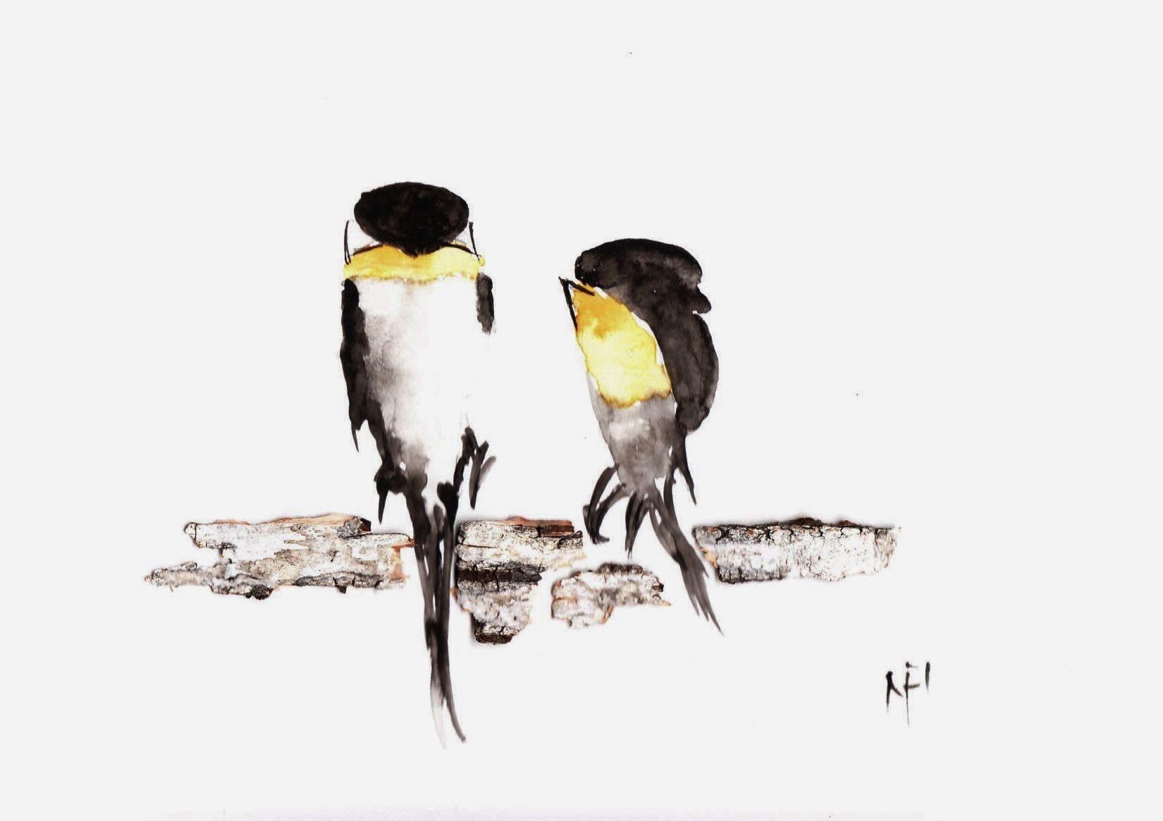 oiseaux https://aquarelles2noel.wordpress.com/