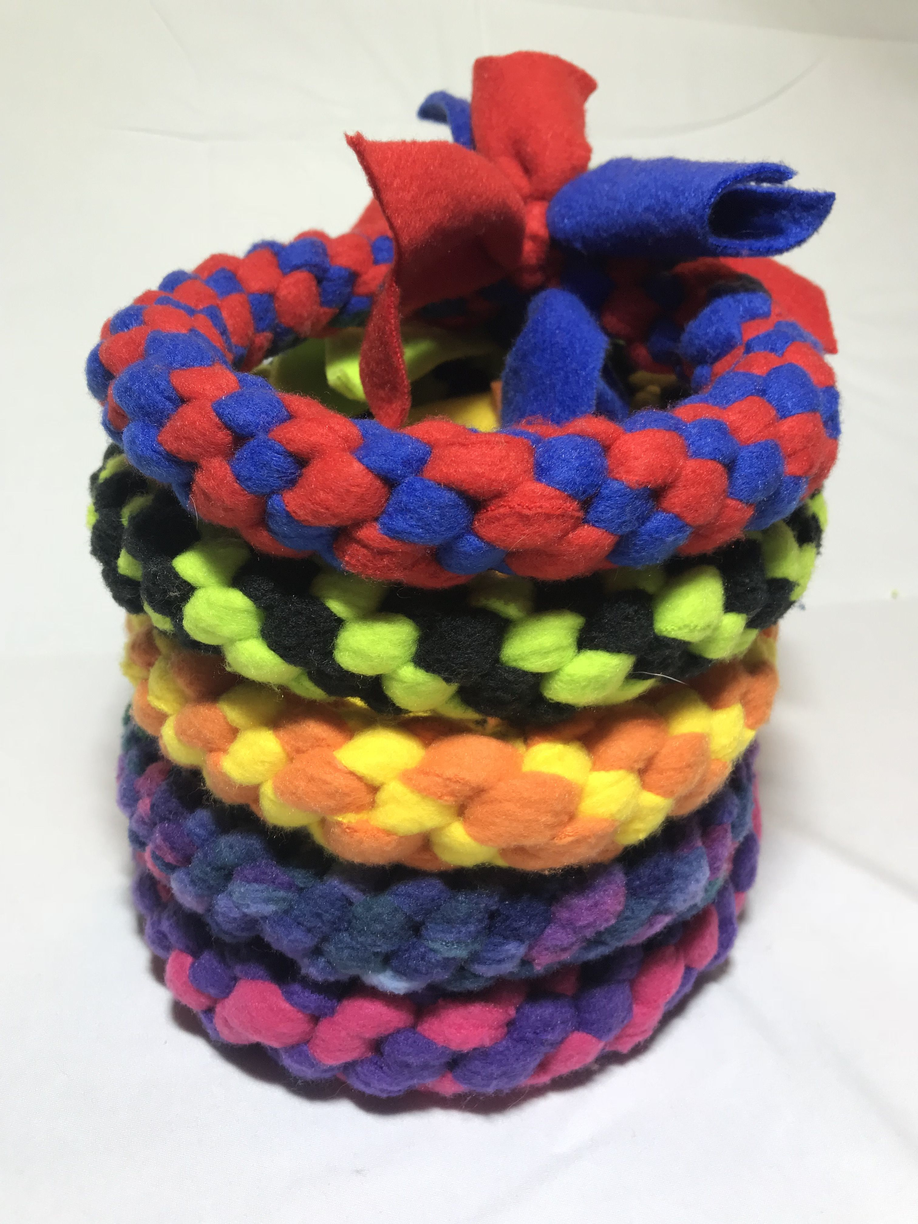 Fleece Ring Dog Toys They Make A Great Present For Your Dog And