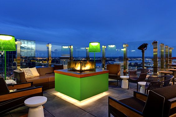 Three Sixty Rooftop Bar on the top of Hilton St Louis Missouri