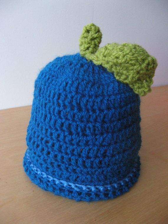 Beautiful Blueberry Baby Hat by coriescrafts on Etsy, $15.00