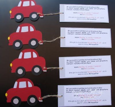 Die Besten 25 Einladung Kindergeburtstag Basteln Auto Ideen Auf