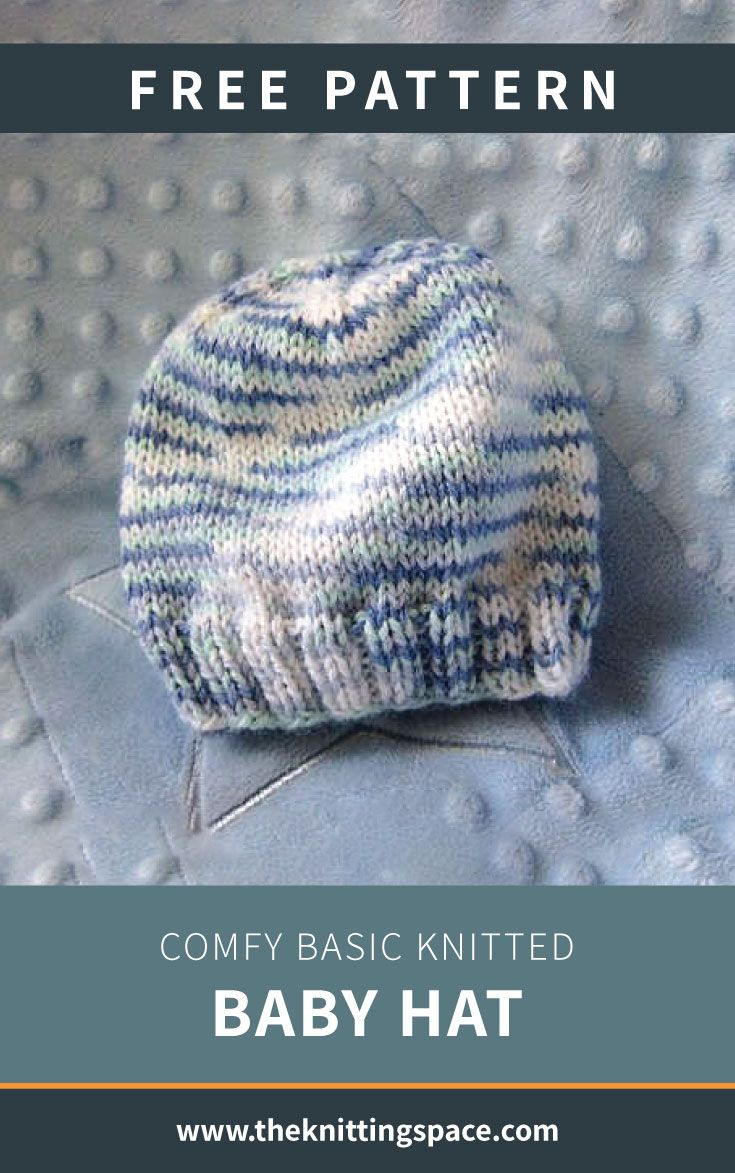 Photo of Comfy Basic Knitted Baby Hat [FREE Knitting Pattern]