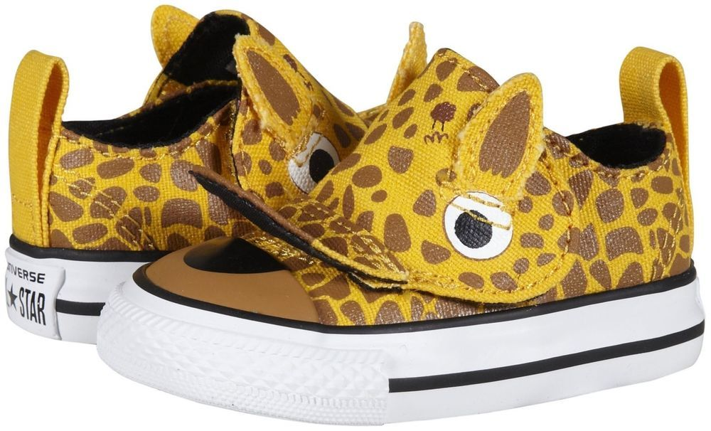 7aef4f605ac0 Converse Chuck Taylor All Star No Problem Ox Giraffe Toddler Size 3 ...