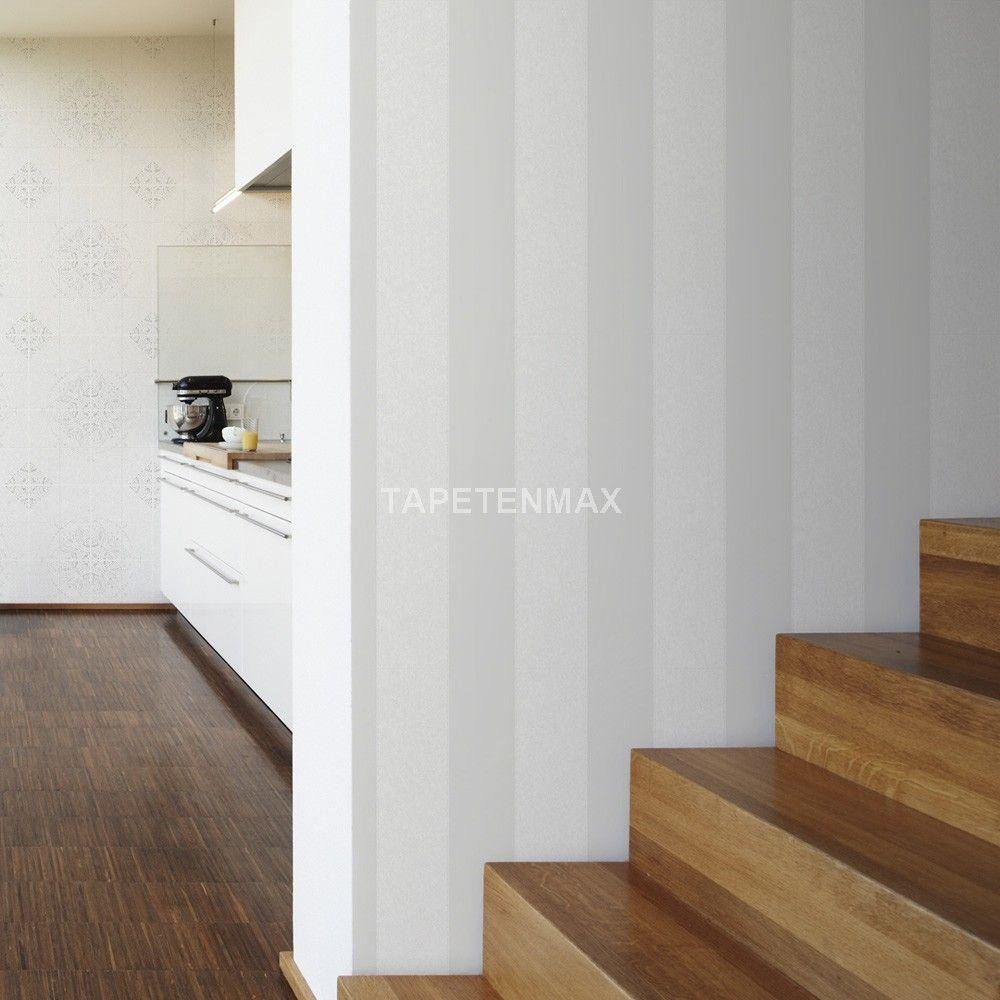 Vliestapete weiß streichen  Esprit 6 – livingwalls Vliestapete – Tapete in den Farben weiß ...