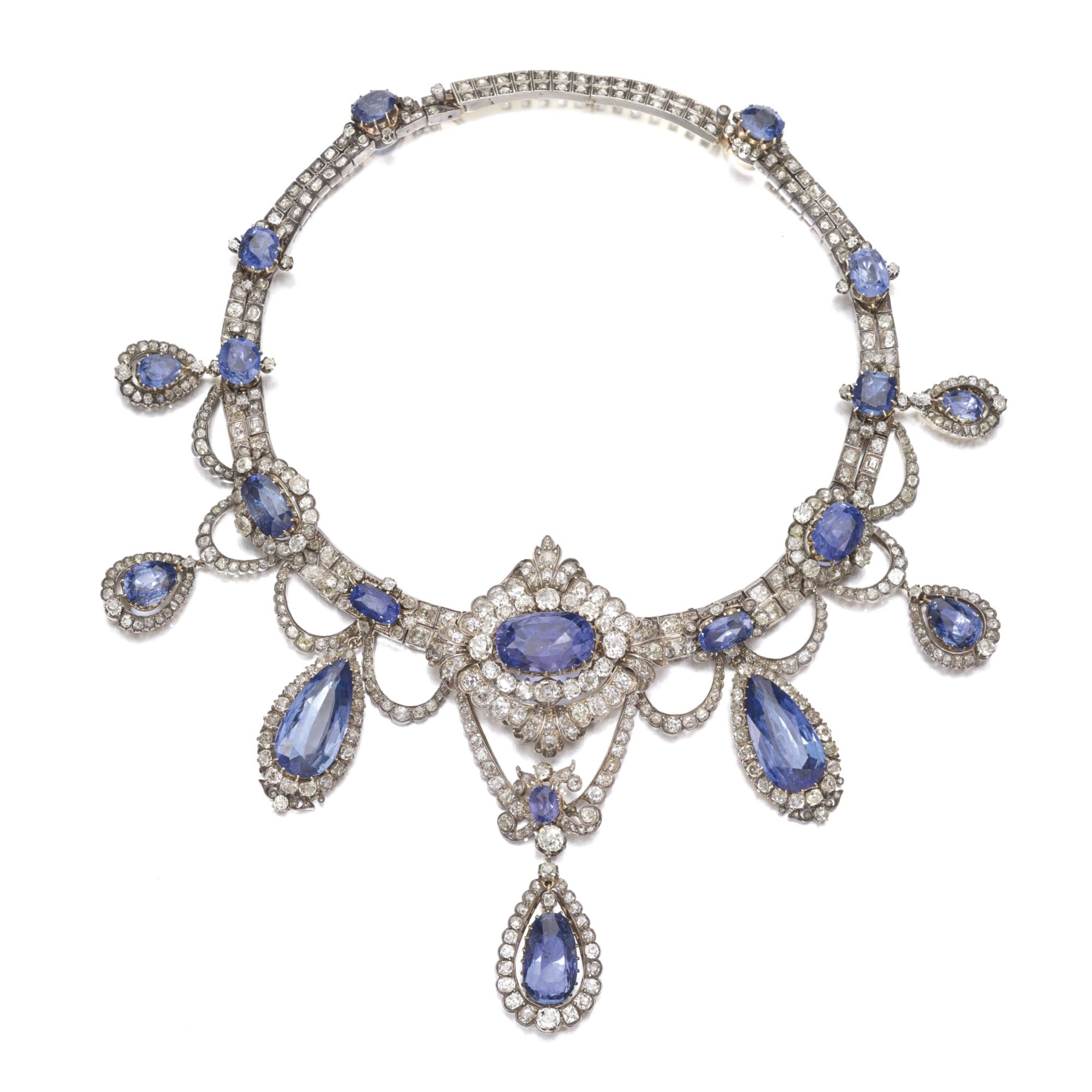 FROM THE COLLECTION OF A ROMAN PRINCELY FAMILY Sapphire and