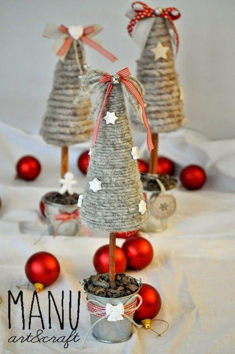 Lavoretti Di Natale Handmade.Country Whisper Il Mio Natale Handmade Alberelli Prima Parte