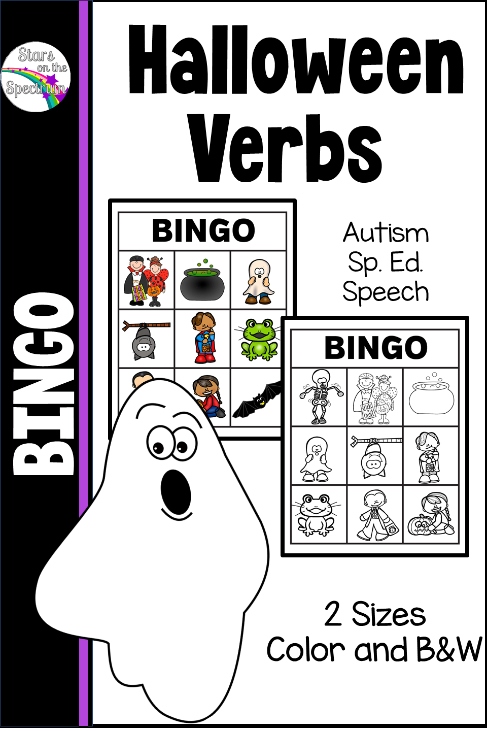 Looking For A Replacement For Worksheets When Teaching Action Words Try This Fun Verb Bingo Game As An Alternat Halloween Bingo Cards Bingo Cards Action Words [ 1440 x 960 Pixel ]