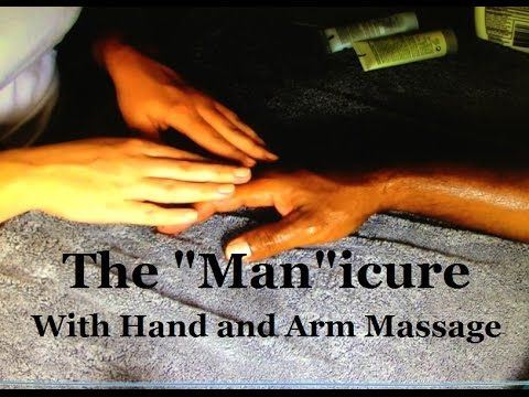 "ASMR - The ""Man""icure * with hand and arm massage*"