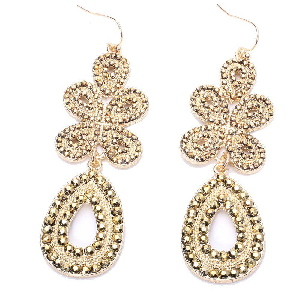 Nina Earrings | Gold chandelier earrings, Chandelier earrings and ...