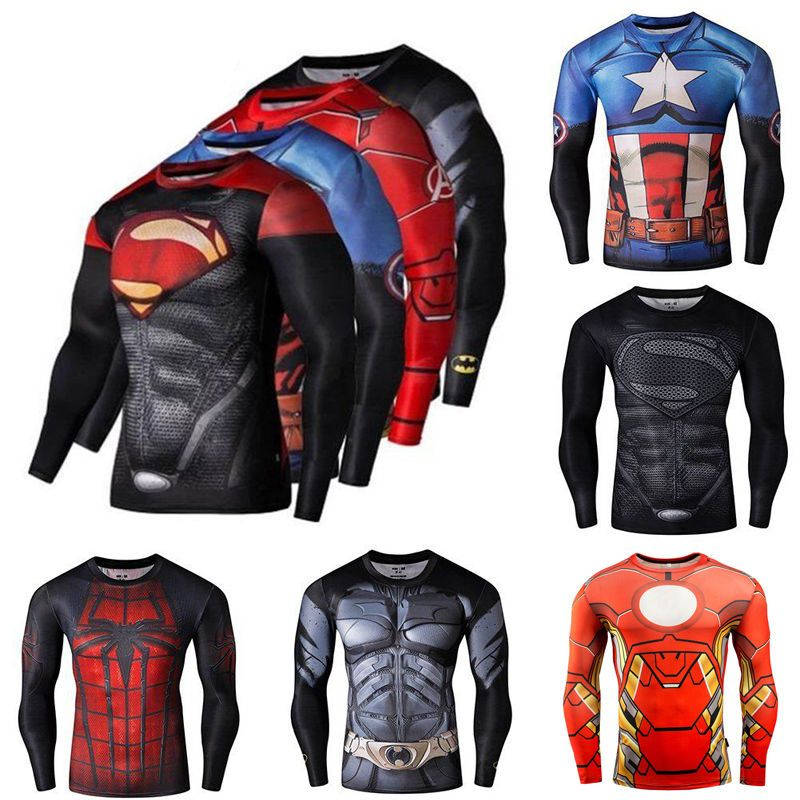 954230640 Men Sport Compression T-Shirts Gym Workout Tee Cycling Jersey Long Sleeve  Tops