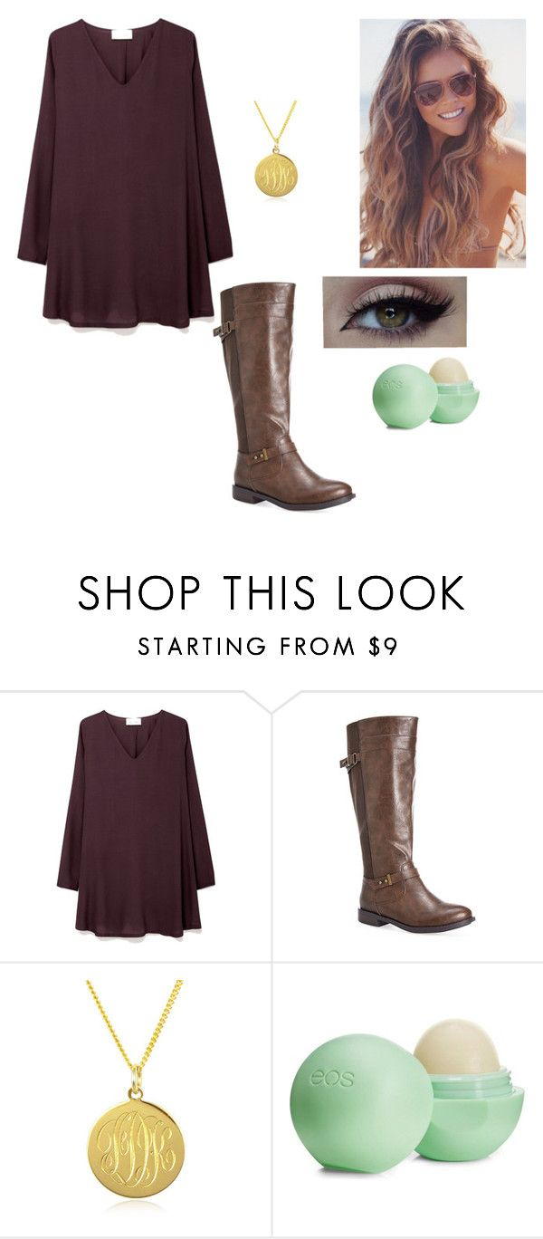 """""""burgandy"""" by loving-fashion-forever ❤ liked on Polyvore featuring American Vintage, Avenue, Black Pearl and Eos"""