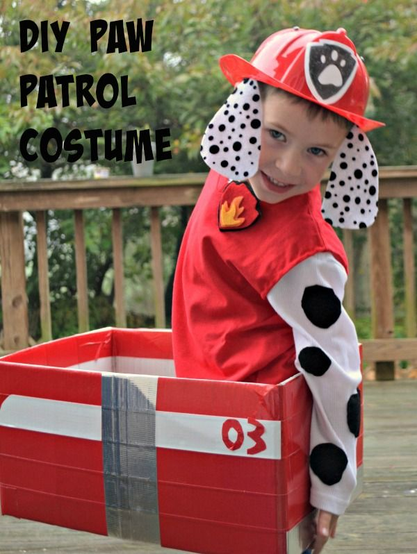diy paw patrol marshall costume kids pinterest pat patrouille et patrouille. Black Bedroom Furniture Sets. Home Design Ideas