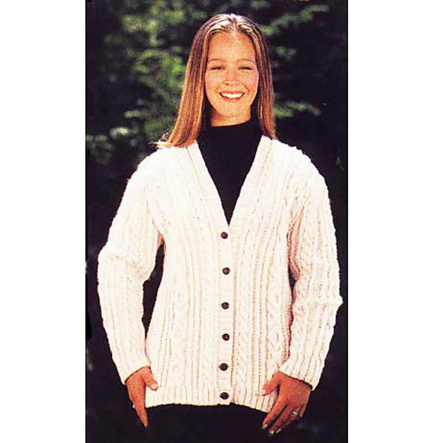 Photo of Ravelry: Aran Cardigan Sweater pattern by Lion Brand Yarn | free knitting patter…