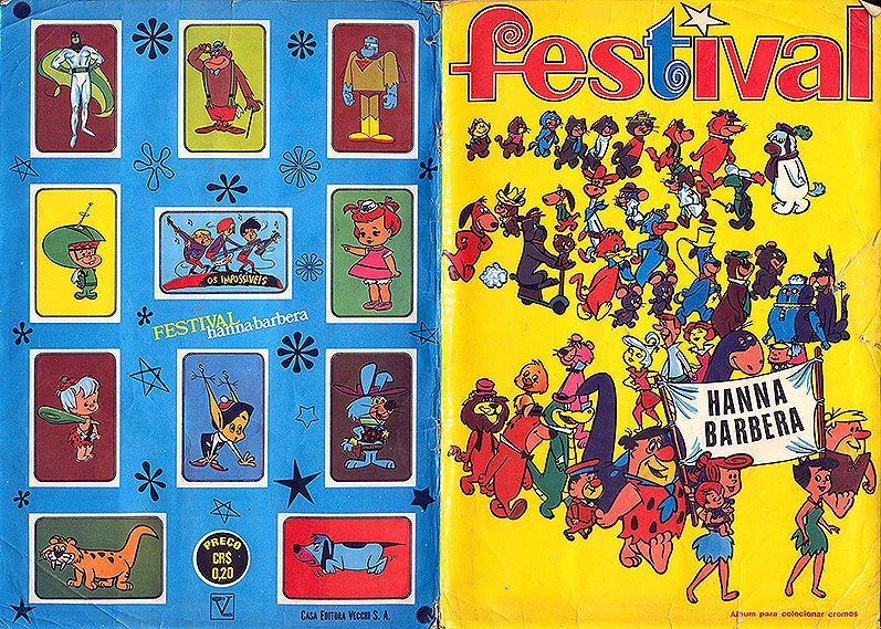 Álbum Festival Hanna barbera – Editora Vecchi – Ano 1973 ???