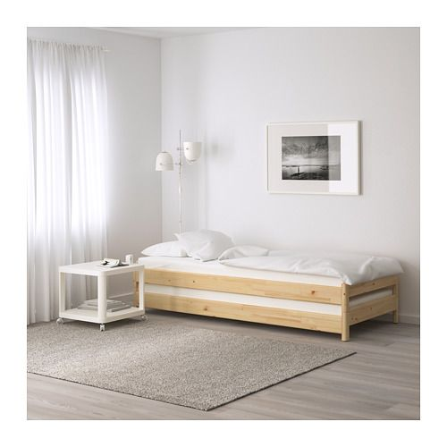 UTÅKER Cama apilable +2 colchones, pino, Moshult firme | Colchones ...