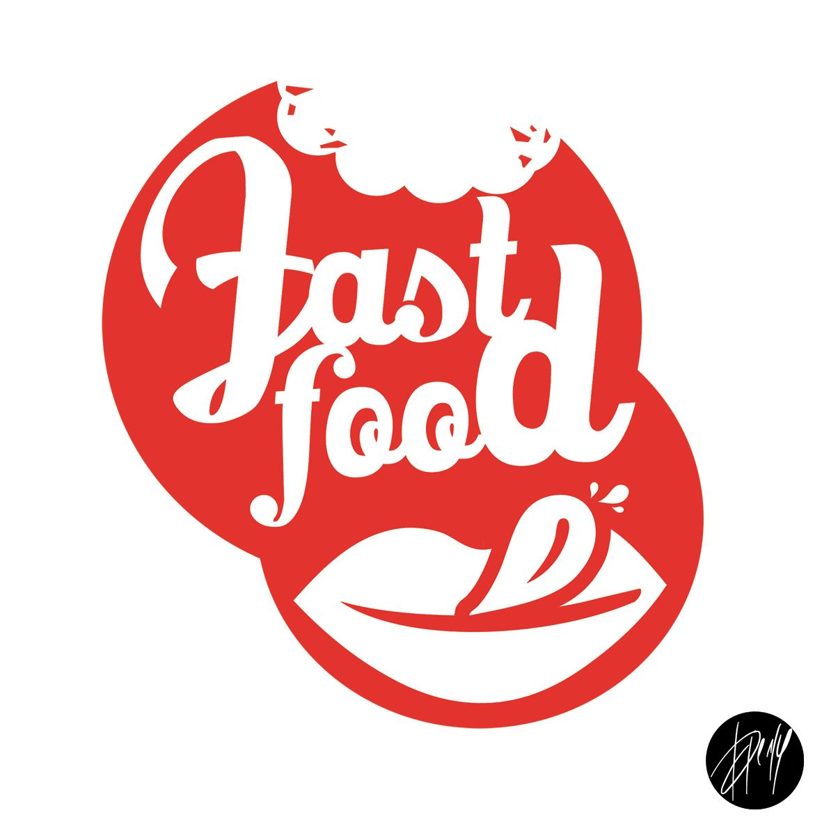 creation logo fast food