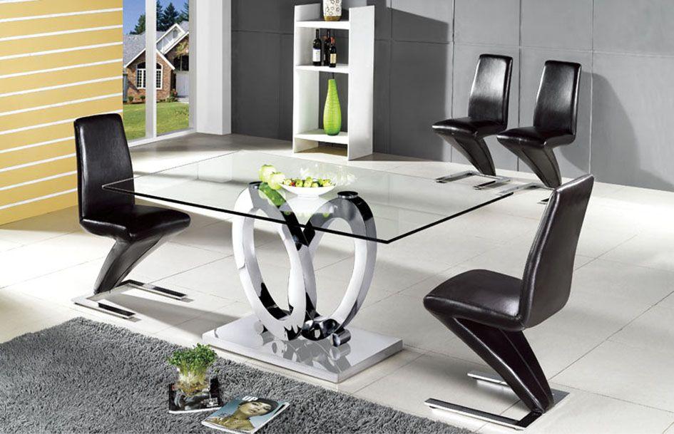 Mesas de comedor en acero ovalos decoracion beltran tu for Decoracion de mesas de comedor