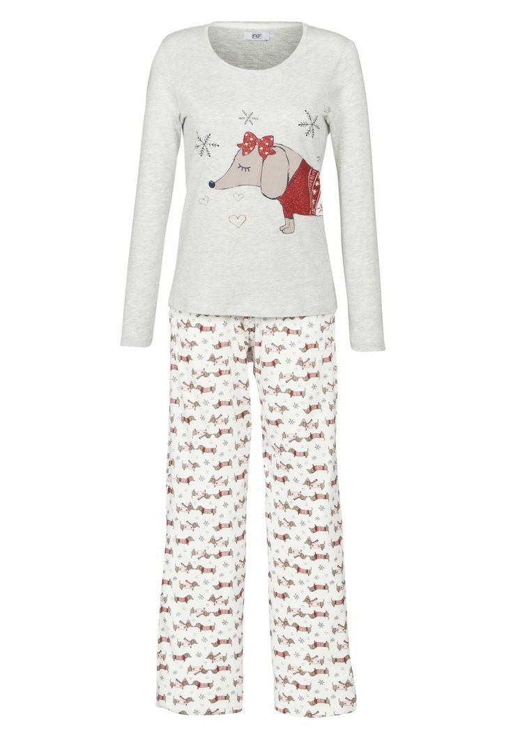Clothing at Tesco | F&F Sausage Dog Pyjamas > nightwear ...