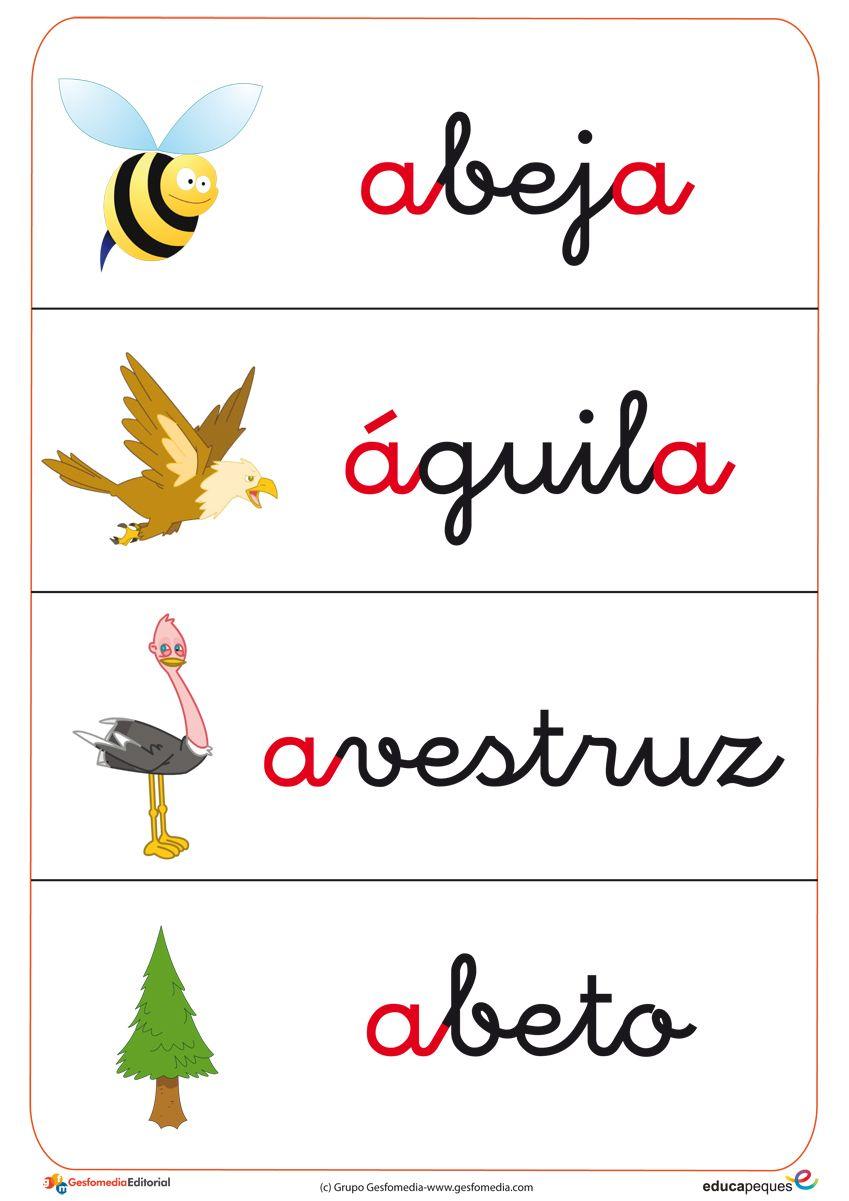 Fichas de vocabulario y letras Gratis.