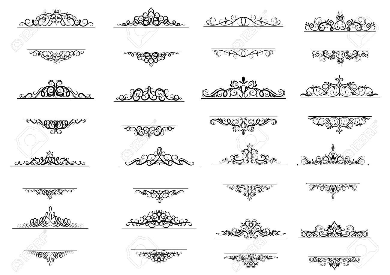 Vintage Vector Swirl Frame Set Aff Vector Vintage Swirl Set Frame In 2020 Graphic Design Art Graphic Design Design Art