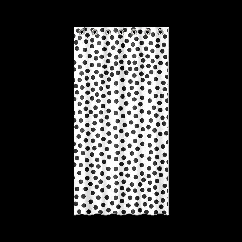 #Black #Polka #Dot Design #Shower #Curtain