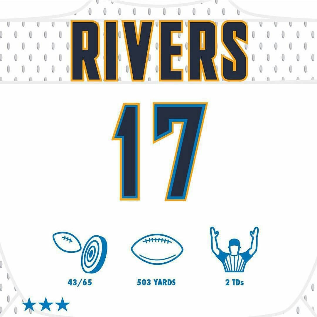 Triple6 One Nine On Instagram Despite The Loss Philiprivers Had A Good Game Chargers R17ers Boltup Sdca Chargers San Diego Chargers Nfl Season