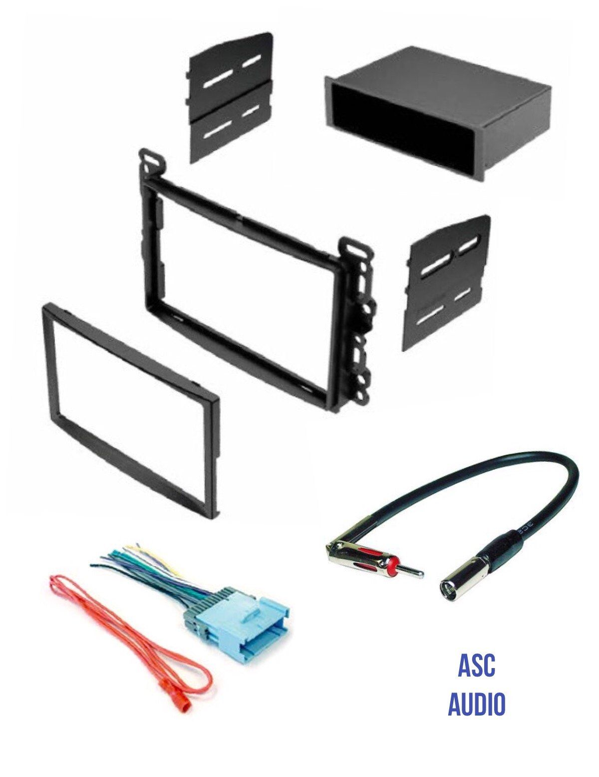 Asc Stereo Dash Kit  Wire Harness  And Antenna Adapter For Some Chevrolet  2005
