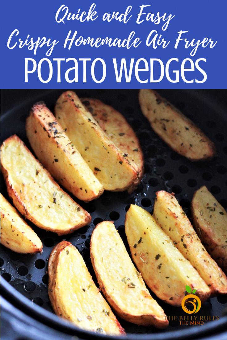 Crispy Garlic Air Fryer Potato Wedges Recipe