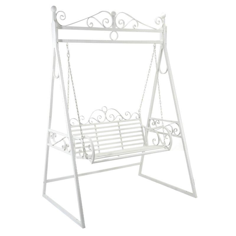 balancelle de jardin en fer forg blanc polett garden in the city garden furniture et home. Black Bedroom Furniture Sets. Home Design Ideas