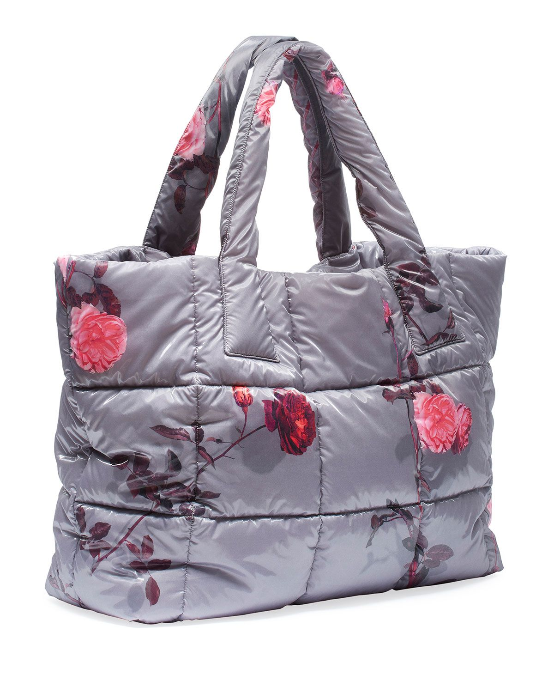 Dries Van Noten FloralPrint Large Puffer Tote Bag (с
