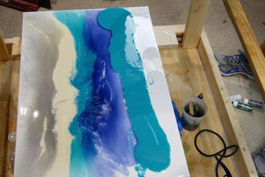 Picture Of Make Resin Art Cells Resin Art Resin Wall Art Resin Painting