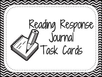 Reading Response Journal Prompt Task Cards (With images