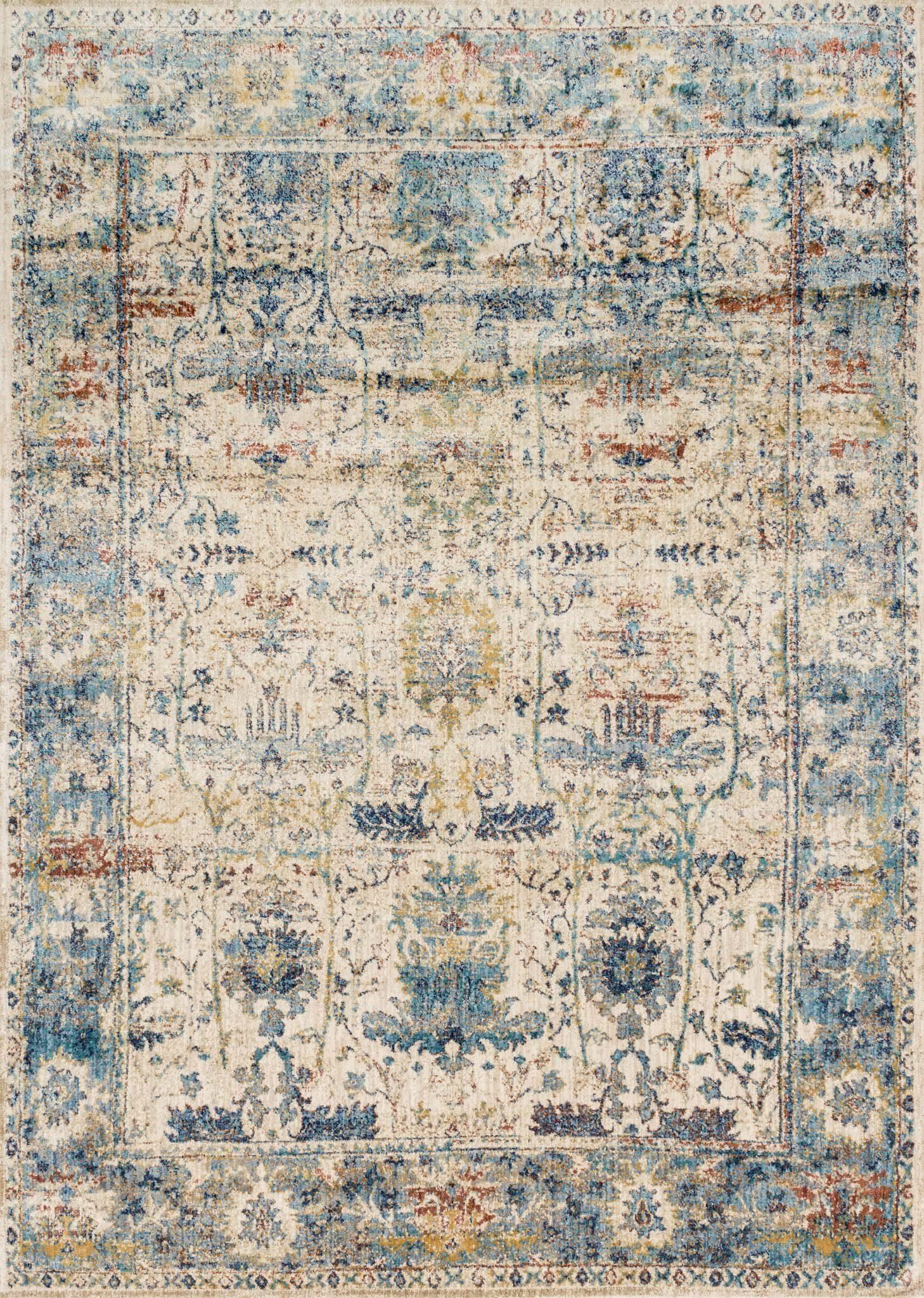 Ornate traditionals distressed and full of character are modernized by illuminating color-ways in the Anastasia collection. Power loomed in Egypt of polypropylene and polyester, Anastasia not only is durable and easy care, but gives the appearance of being a fine rug made by hand. The intricate detail, luster of colors, and unbeatable price point establish the value of this outstanding collection. Anastasia is available in various sizes including rounds and runners.