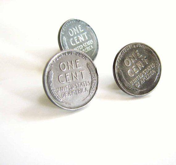 1943 Seconde guerre mondiale Acier Penny TIE TACK//lapel pin-Historique