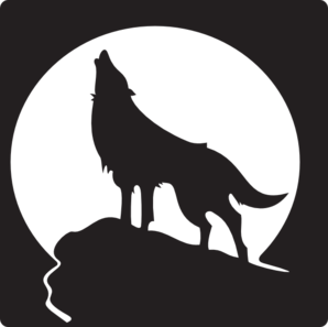 Howling Wolf Md Png 298 297 Pixels Art Wolf Silhouette Drawings Of Friends