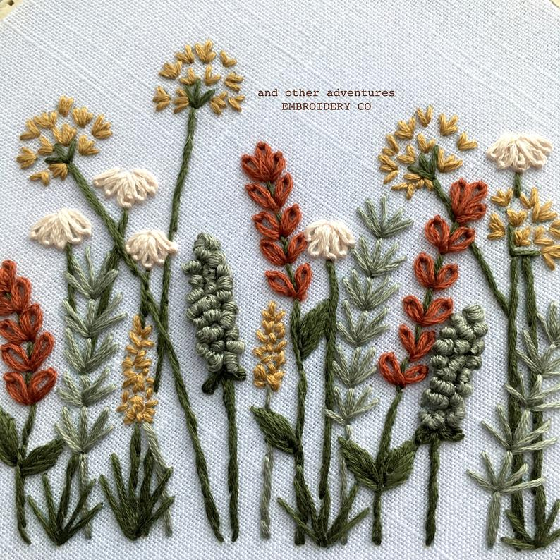 Modern Hand Embroidery KIT – Autumn Meadow DIY Embroidery Hoop by And Other Adventures Embroidery Co – DIY