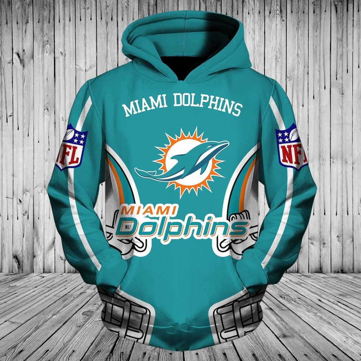 Men Women Miami Dolphins 3d Hoodie Miami Dolphins Hoodie Nfl
