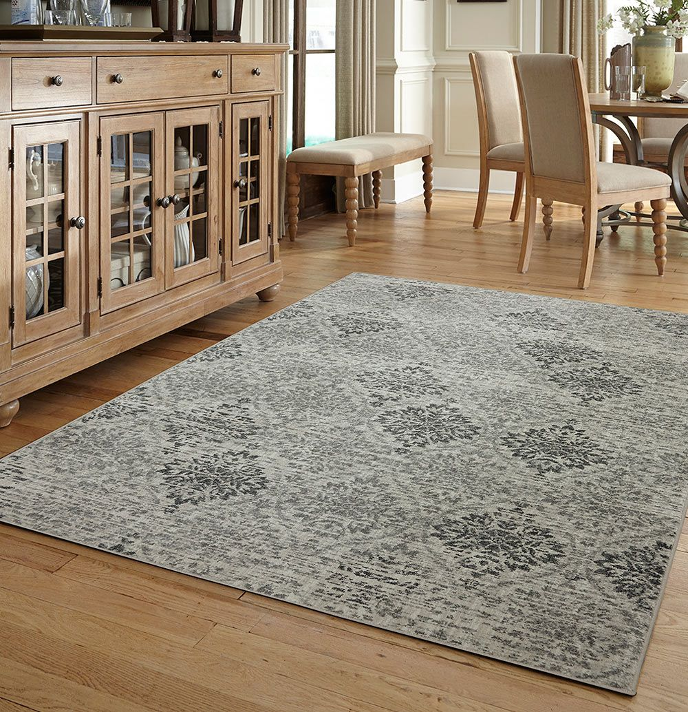 This Botanical Oriental Natural Print Black Modern Turkish Area Rug 8x11 Is Manufactured With The Latest Technology In Turkey And Made Of Polyester